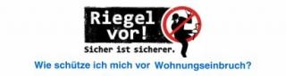 """Mottowoche der Polizei in NRW """"Riegel vor"""" zum Thema """"Verhütung von Wohnungseinbrüchen"""" vom 18. bis 25.November"""